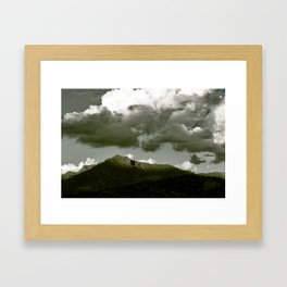 Late Afternoon Sunlight in the Supertitions Framed Art Print