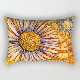 Moon Daisy Rectangular Pillow