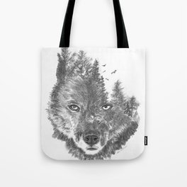 Wolf - The Wild and the Wilderness Tote Bag
