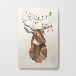 Tangled Rudolph Metal Print