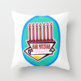 Mitzvah in style Throw Pillow