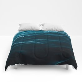 Minimalist blue water surface texture - oceanscape Comforters
