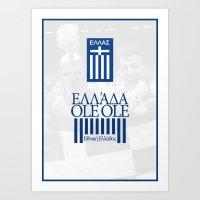greece Art Prints featuring Greece by liamhohoho