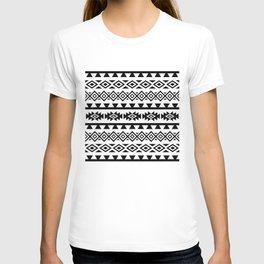 Aztec Stylized Lg Pattern II BW T-shirt
