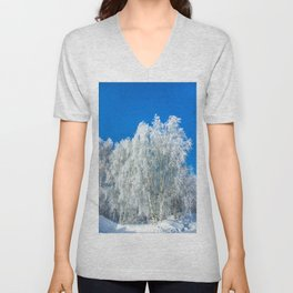 Winter lace Unisex V-Neck