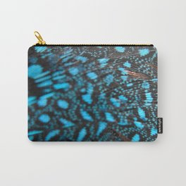 Blue Feather Carry-All Pouch