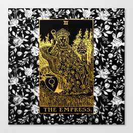 Floral Tarot Print - The Empress Canvas Print