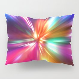 acceleration speed motion on night road Pillow Sham