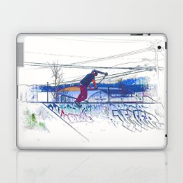Spinning the Deck - Trick Scooter Sports Art Laptop & iPad Skin