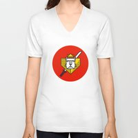 gryffindor V-neck T-shirts featuring Gryffindor House Crest Icon by Manuja Waldia