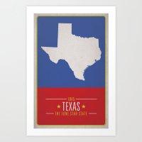 texas Art Prints featuring TEXAS by Matthew Justin Rupp