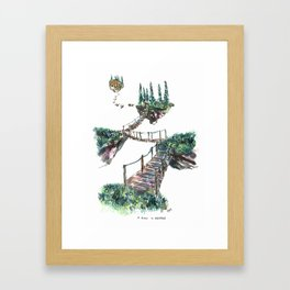 A Place To Breathe Framed Art Print