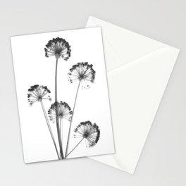 black and white flower wallpaper, flower decor, printable art Stationery Cards