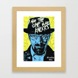 Braking Bad Heisenberg Framed Art Print