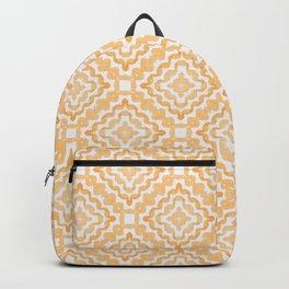 Orange Diamond Squiggle Pattern Backpack