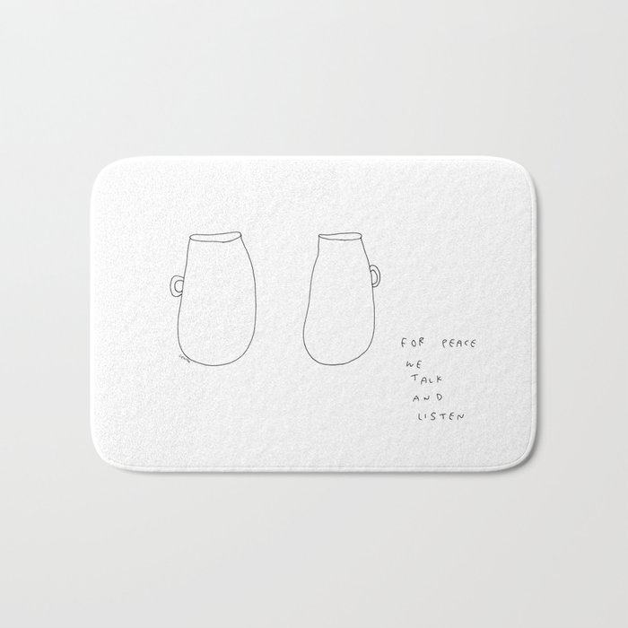 For Peace - coffee cup illustration Bath Mat