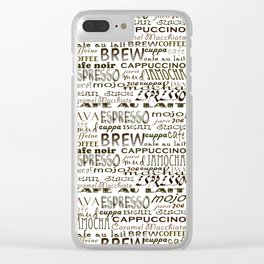 Coffee - In So Many Words Clear iPhone Case