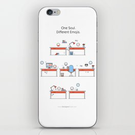 One Soul. Different Emojis. iPhone Skin