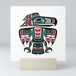 Haida Tlingit Native Raven Totem Mini Art Print