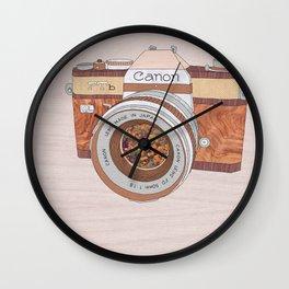WOOD CAN0N Wall Clock