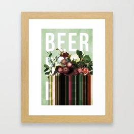 Beer, Beer & Beer Framed Art Print