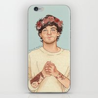 coconutwishes iPhone & iPod Skins featuring Tommo Flower crown by Coconut Wishes