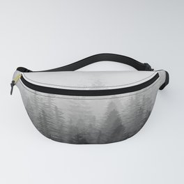 Into The Misty Nature - Black & White Fanny Pack
