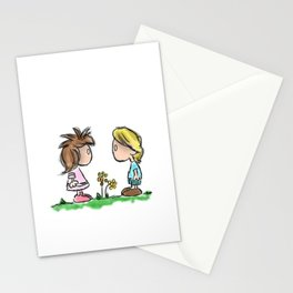 Lil Emo Hipsters In Love Stationery Cards