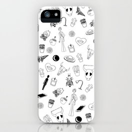 Black Eclectic Pattern iPhone Case
