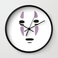 spirited away Wall Clocks featuring Spirited Away by Fabiocs