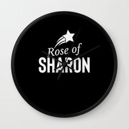 Rose Of Sharon - Jesus Christ Name Wall Clock