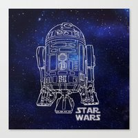 r2d2 Canvas Prints featuring r 2 d 2 by Vickn