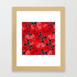 Video Games Red Framed Art Print