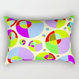 Bubble yellow & purple 10 Rectangular Pillow