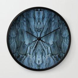 Blue Driftwood Wall Clock