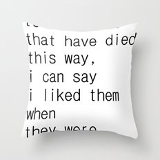 underground music Throw Pillow