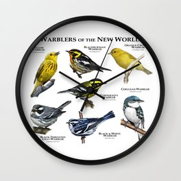 Warblers of the New World Wall Clock