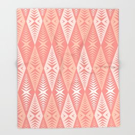 Jaws Pink Throw Blanket