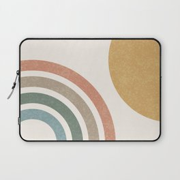 Mid Century Colorful Sun & Rainbow Laptop Sleeve