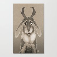 jackalope Canvas Prints featuring Jackalope by Art of Jeff Hebert