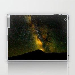 Beautiful Yellow Milky way Galaxy At Night Stars Sky Landscape Photography Laptop & iPad Skin