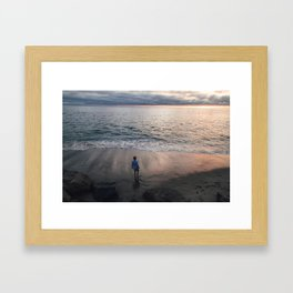 The unknown. Framed Art Print