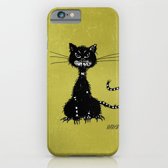 Ragged Evil Black Cat iPhone & iPod Case