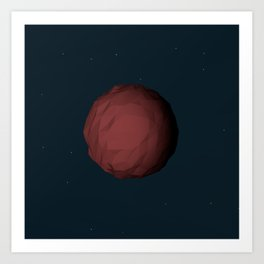 Planet Mars Low Poly Art Print