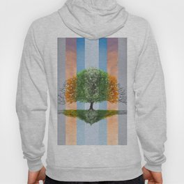 Digital painting of the seasons of the year in a tree Hoody