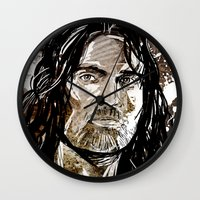 gondor Wall Clocks featuring Aragorn by Patrick Scullin