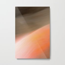 The Abstract Planet. Orange to Black Shades. Metal Print
