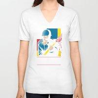 battlefield V-neck T-shirts featuring Art is War! by Mike Handy Art