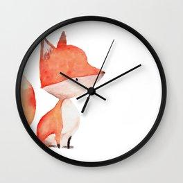 Woodland Critters - Fox Wall Clock