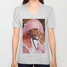 Cam'ron Pink Fur mood Unisex V-Neck